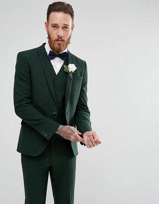 verde novio moño casual fistol