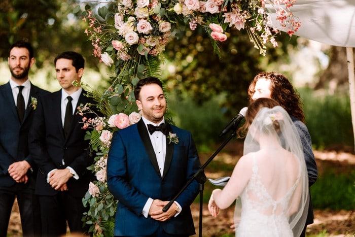 Traje de novio azul novia fistol moño jardín smoking formal