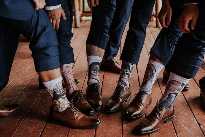 padrinos calcetines azul marino