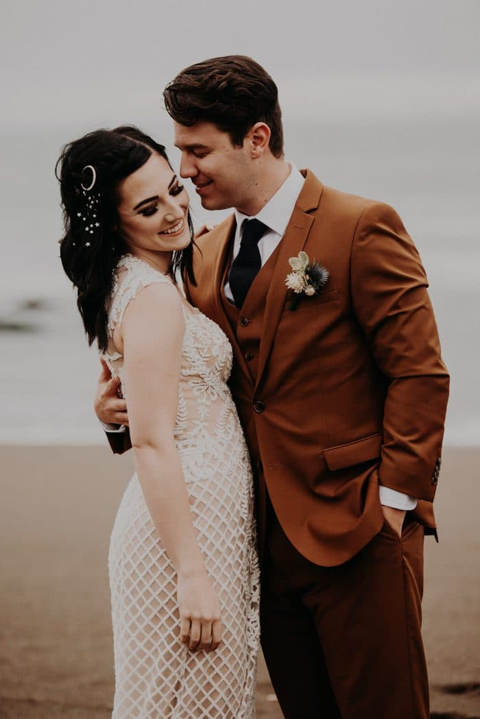Traje de novio marrón novia casual corbata fistol