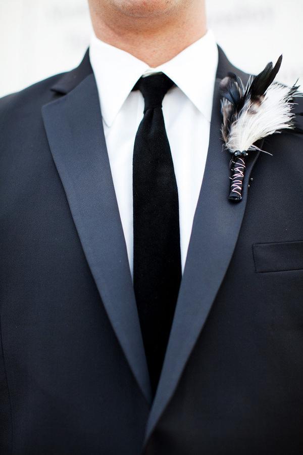 traje de novio negro corbata formal fistol