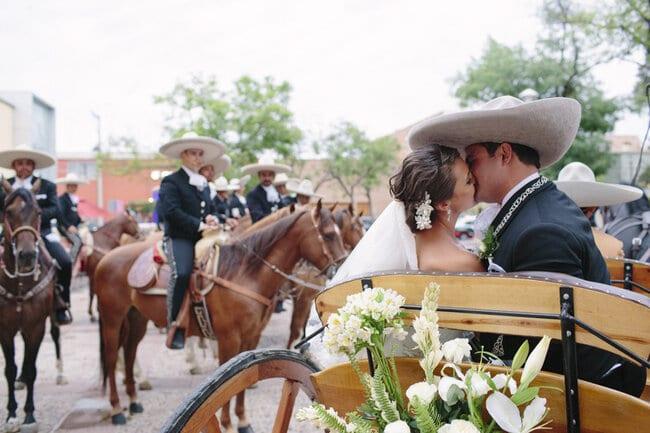 boda charra novios caballos